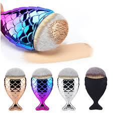 cosmetic makeup brush fish scale makeup brush mermaid bottom brush powder foundation contour brushes set kits fishl make up in makeup scissors from