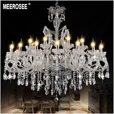 hot classic crystal chandelier light fixture clear white in on designs 19