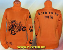 тату свитер Born To Be Wild женский байкерские свитера H D