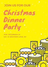 Online Christmas Dinner Poster Template Fotor Design Maker