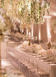chandelier decorations for wedding reception décor s fl scheme of white and gold wedding reception decor