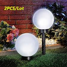 2pcs lot solar power outdoor garden led