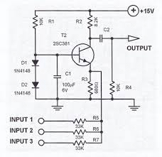 single transistor audio mixer circuit electronics basics single transistor audio mixer circuit