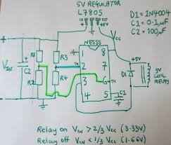 low voltage battery disconnect circuits reuk co uk schematic for ne555 low voltage disconnect circuit