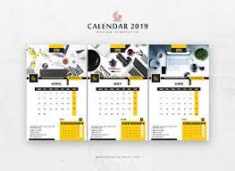 Calender Design Template Free 13 Pages 2019 Calendar Design Templates On Behance