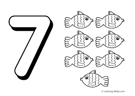 7 Numbers Coloring Pages For Kids