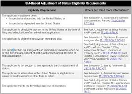 Grounds Of Inadmissibility Chart Special Immigrant Juvenile Adjustment Of Status Myattorneyusa