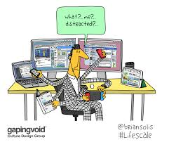 Gapingvoid Culture Design Group What Me Distracted A New Illustration By
