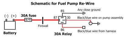 stealth 316 fuel pump re wire fuel pump re wire schematic