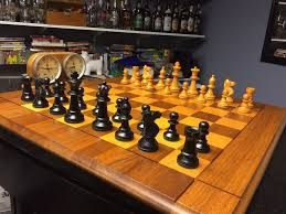 Vintage Wooden Board Games Vintage Wood Drueke Set and Board Chess Forums Chess 78