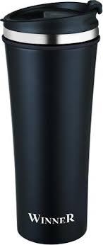 <b>Термокружка Winner</b> Black Classic, цвет: черный, 0,42 л. <b>WR</b>-8204 ...