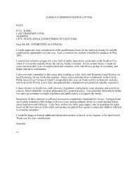 Best Attorney Cover Letter Examples Law Template Graduate