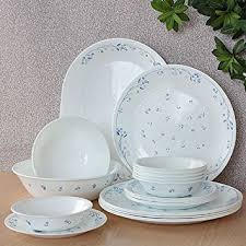 corelle dinner set price in india. corelle essential provincial blue round dinner set, 21-pieces set price in india r