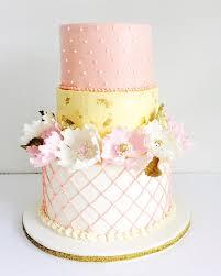Cake Design Ottawa Buttercream Tiered Custom Cake With Sugar Peonies And Gold