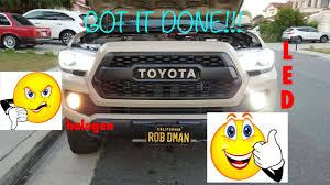 2019 Toyota Tacoma Led Fog Lights Lasfit Led Fog Light Install And Review 2016 2017 Toyota Tacoma H11 Bulbs