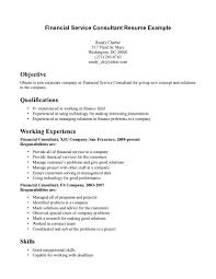 Financial Consultant Job Description Resume Resume Personal Background Therpgmovie 84