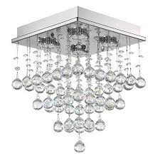 7pm h15 x w11 square rain drop clear k9 crystal ceiling light lamp modern contemporary chandelier