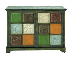 Antique Storage Cabinets Rustic Multi Colored Storage Cabinet From Salvaged Antique Wood