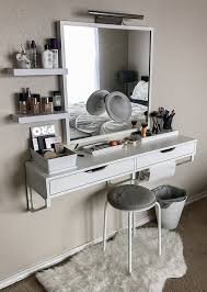 white modern makeup vanity. 21 photos of how real people store their makeup white modern vanity w
