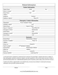 patient information form patients can use this hipaa form as a medical release to give