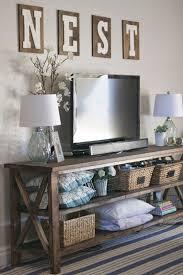 Tv Room Diy Farmhouse Console A Peek Into Our Family Room Paddington