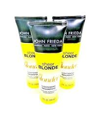 john frieda sheer blonde go blonder lightening shampoo 2oz travel size lot of 3