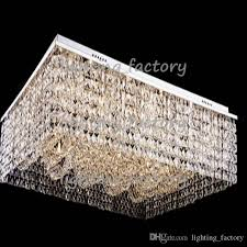 new new flush mount living room light rectangular crystal chandelier for large rectangular chandelier