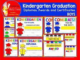 Kindergarten Graduation Boys Diplomas Certificates And Awards By