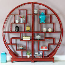 ... Cool Circular Bookcase Circle Bookcase Round Elm Bookcase Oriental  Lacquer Bookshelves Red: outstanding ...