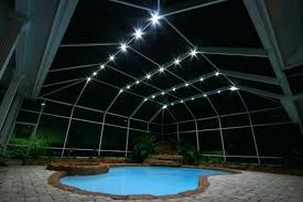 pool cage lighting orlando nebula