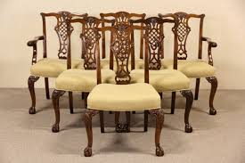 Chippendale Furniture Sold Set Of 6 Georgian Chippendale Vintage Mahogany Dining
