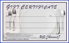 Microsoft Word Templates Gift Certificates Restaurant Gift Certificate Template Clean Restaurant Gift