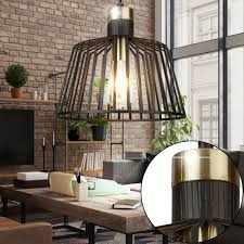 Details About Vintage Pendant Light Black Living Room Cage Design Ceiling Hanging Lamp Gold
