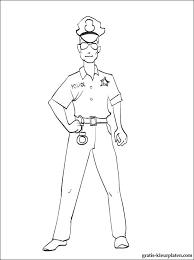 Politieagent Kleurplaat Gratis Kleurplaten