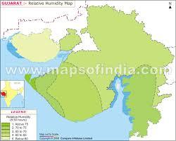 Gujarat Relative Humidity Map