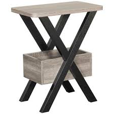 black and gray chairside table