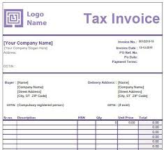 Tax Invoice Examples Gst Invoice Format In Excel Word And Pdf For Services With