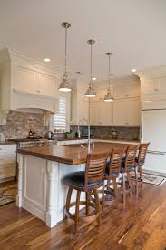 wood topped kitchen island