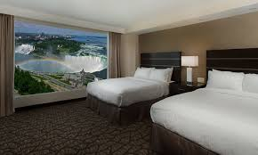 two queen bedroom suite embassy suites by hilton niagara falls fallsview hotel canada