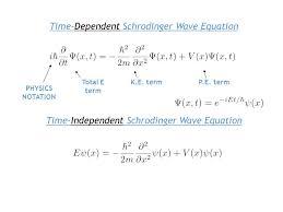 time dependent schrodinger wave equation