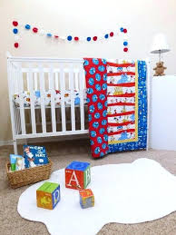 crib bedding quilt cat in the hat size gift for baby or toddler featuring dr seuss