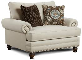 Fusion Furniture 2820 Traditional Chair and a Half with Nailhead