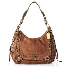 Coach Abbey Leather Flap Hobo Handbag