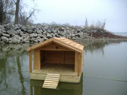 Floating House Plans Floating Duck Shelters Custom Floating Duck Houses Waterfowl
