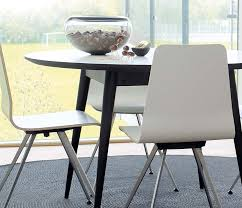 retro white round dining table