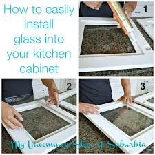 adding glass to kitchen cabinets installing glass cabinet doors diy