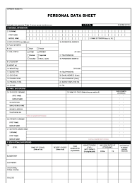 Personal Data Form Template Download Free Personal Data Sheet Template 21