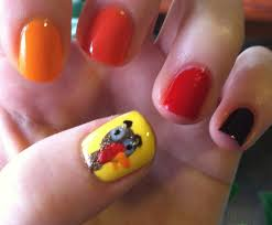 Nail art for thanksgiving ~ Beautify themselves with sweet nails