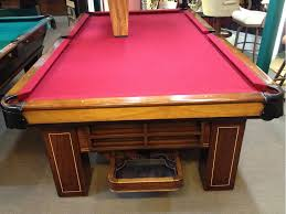Setting Up A Pool Table Sold Pre Owned Brunswick Antique Madison 9ft Regulation Pool Table