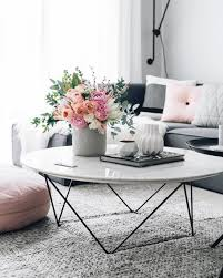 Living Room: Amazing Coffee Table With Flower Vases - Modern Coffee Table